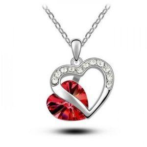 Jewelry - Heart Crystal Rhinestone Silver Chain Pendant Neck